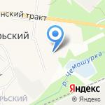 Октябрьский детский сад на карте Октябрьского