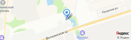 Монолит на карте Ижевска