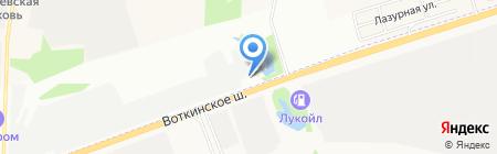 Восточный экспресс на карте Ижевска