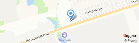 Иждрил на карте Ижевска