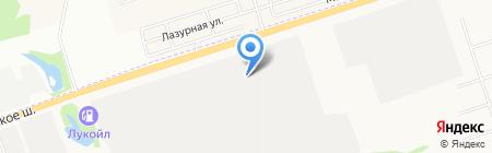 Вектор на карте Ижевска