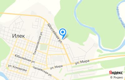 Местоположение на карте пункта техосмотра по адресу Оренбургская обл, с Илек, ул Шоссейная, д 44А