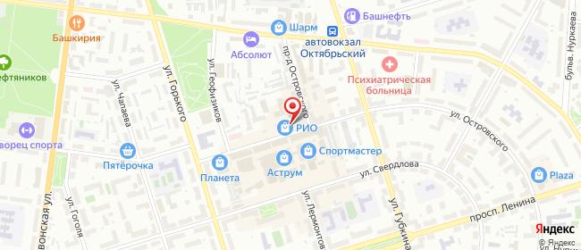 Карта расположения пункта доставки СИТИЛИНК в городе Октябрьский