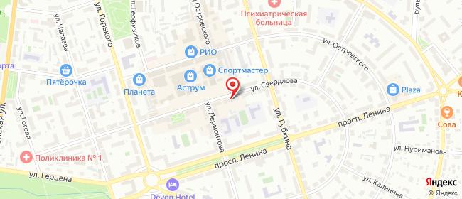 Карта расположения пункта доставки Октябрьский Свердлова в городе Октябрьский