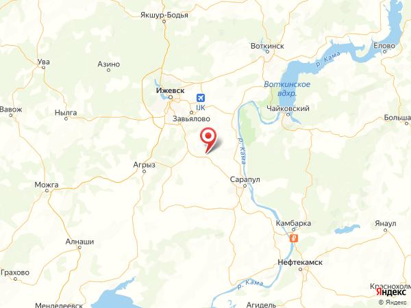 деревня Пальники на карте
