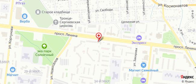 Карта расположения пункта доставки Октябрьский 34 мкр в городе Октябрьский