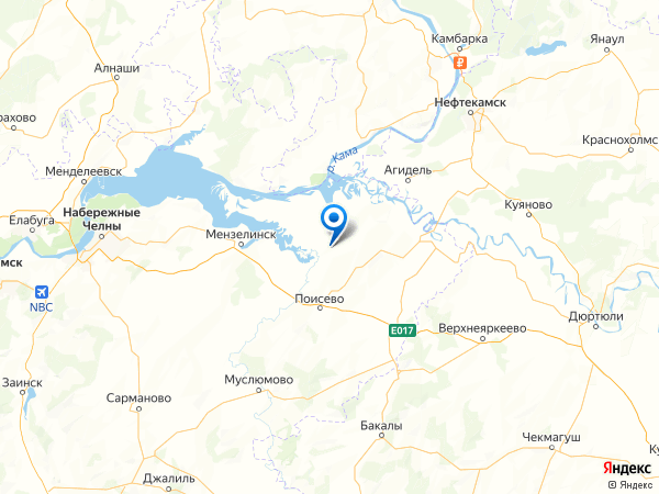 село Адаево на карте
