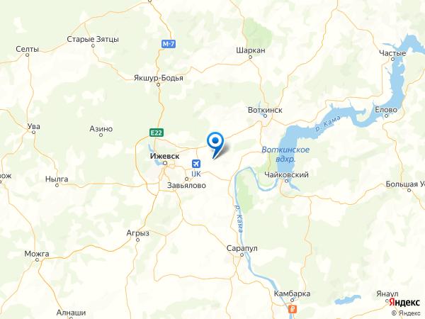 деревня Тихий Ключ на карте