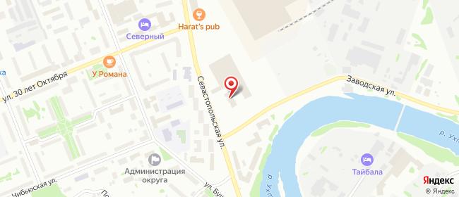 Карта расположения пункта доставки Билайн в городе Ухта