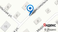 Компания служба доставки пиццы на карте