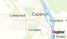 Гостиницы города Сарапул на карте