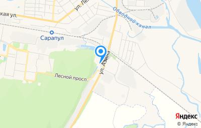 Местоположение на карте пункта техосмотра по адресу Респ Удмуртская, г Сарапул, ул Азина, д 166