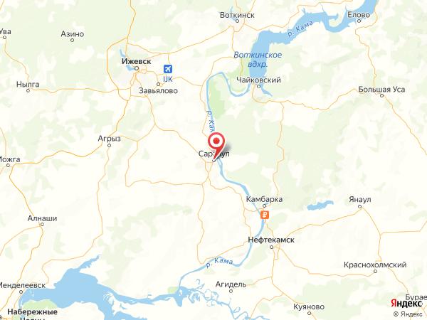 Сарапул на карте