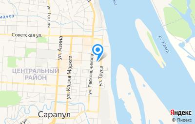 Местоположение на карте пункта техосмотра по адресу Респ Удмуртская, г Сарапул, ул Гагарина, д 5