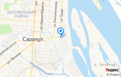 Местоположение на карте пункта техосмотра по адресу Респ Удмуртская, г Сарапул, ул Труда, д 49