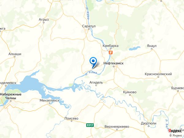 поселок Вятское на карте
