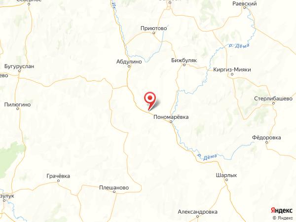 село Ефремово-Зыково на карте