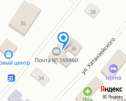 Схема местоположения почтового отделения 169460