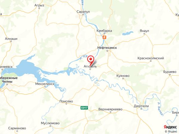 село Новокабаново на карте