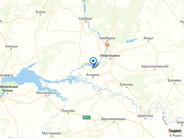 деревня Саузбаш на карте