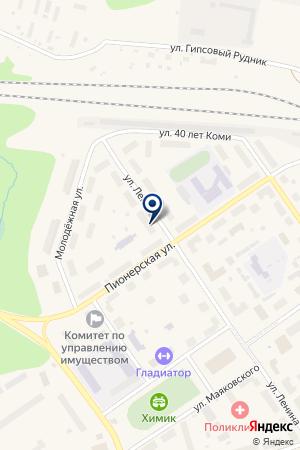 АДВОКАТСКОЕ БЮРО Г. СОСНОГОРСКА на карте Сосногорска