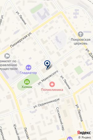 ДК ГОРИЗОНТ на карте Сосногорска