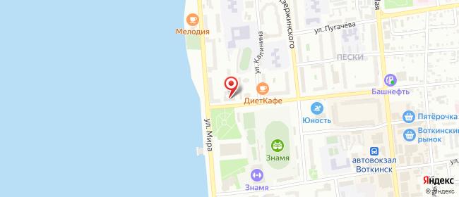 """Карта расположения пункта доставки Магазин """"Теплоизоляция"""" в городе Воткинск"""