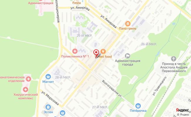 Карта расположения пункта доставки Билайн в городе Белебей