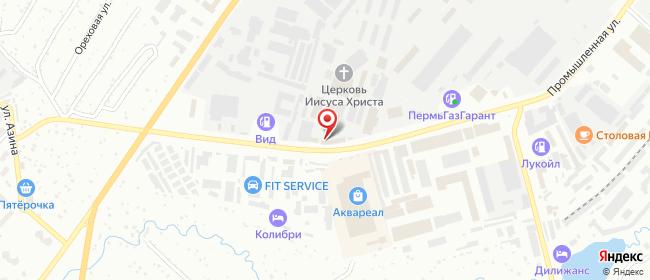 Карта расположения пункта доставки 220 вольт в городе Чайковский