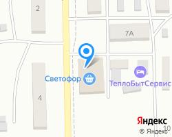 Схема местоположения почтового отделения 461781