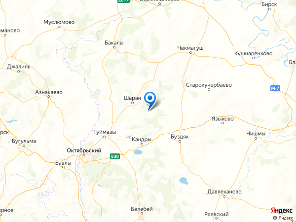 деревня Кызыл-Чулпан на карте