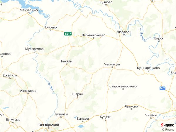 деревня Таш-Елга на карте