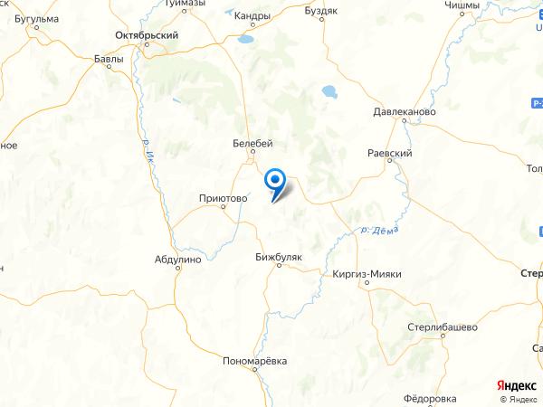 село Кош-Елга на карте