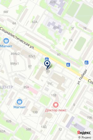 НЕФТЕКАМСКИЙ МУЭС ФИЛИАЛ БАШИНФОРМСВЯЗЬ на карте Нефтекамска
