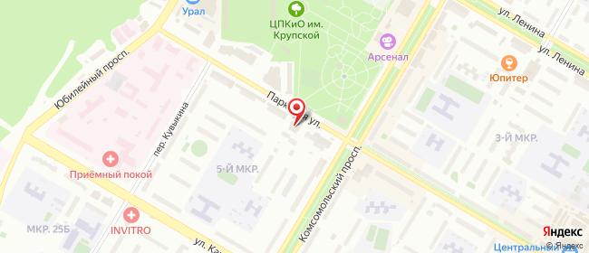 Карта расположения пункта доставки СИТИЛИНК в городе Нефтекамск