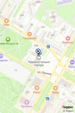 НГДУ АРЛАННЕФТЬ на карте Нефтекамска