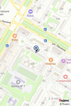 РЕДАКЦИЯ ГАЗЕТЫ КРАСНОЕ ЗНАМЯ на карте Нефтекамска