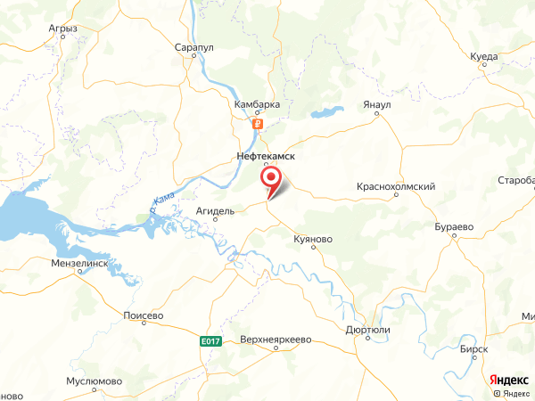 село Можары на карте