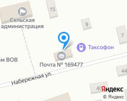 Схема местоположения почтового отделения 169477