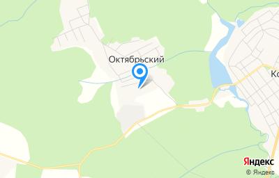 Местоположение на карте пункта техосмотра по адресу Пермский край, Кочевский р-н, п Октябрьский, ул Октябрьская