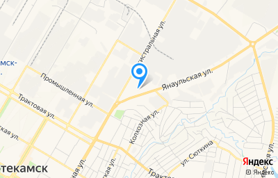 Местоположение на карте пункта техосмотра по адресу Респ Башкортостан, г Нефтекамск, ул Янаульская, д 1А