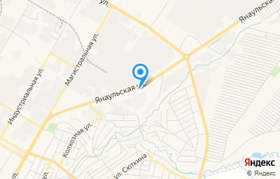 Местоположение на карте пункта техосмотра по адресу Респ Башкортостан, г Нефтекамск, ул Янаульская, д 12З