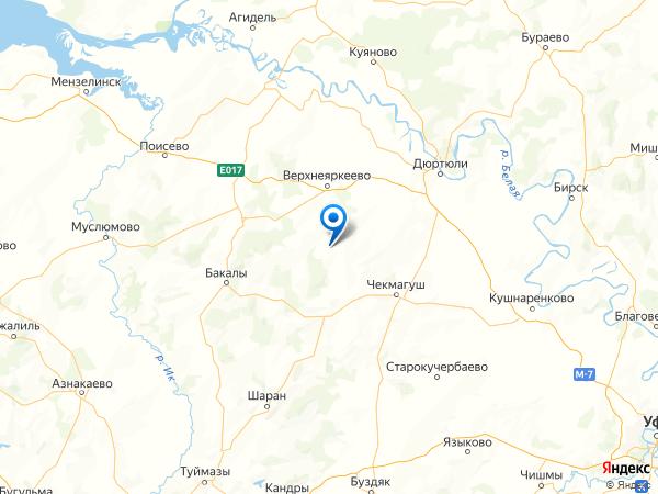 деревня База-Куяново на карте
