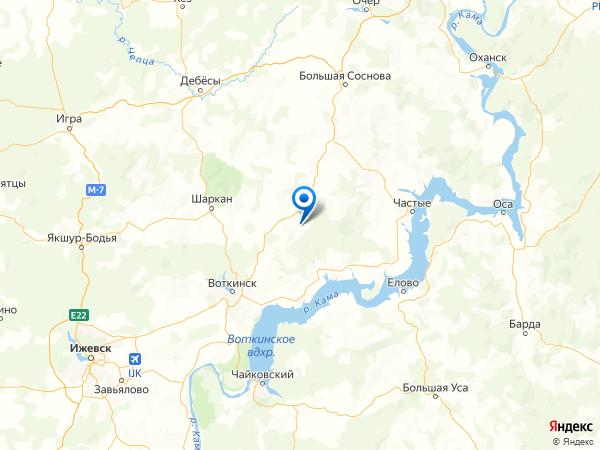 деревня Лисья на карте