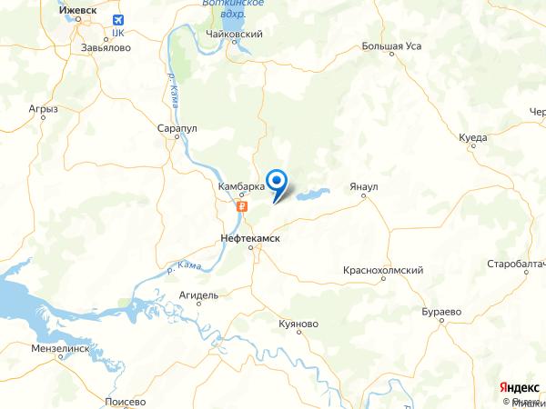 село Амзя на карте