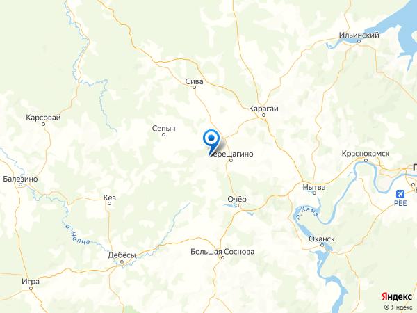 деревня Комары на карте
