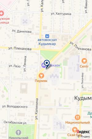 МАГАЗИН АВТОЗАПЧАСТИ ЛАДА на карте Кудымкара