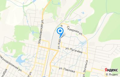 Местоположение на карте пункта техосмотра по адресу Пермский край, г Верещагино, ул К.Маркса, д 126
