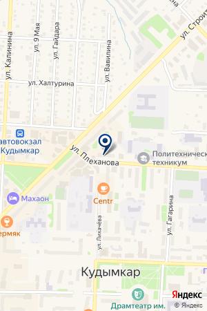 ОХРАННОЕ АГЕНТСТВО ПРИЛИВ на карте Кудымкара