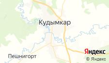 Гостиницы города Кудымкар на карте